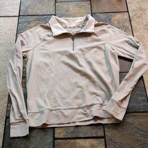 Victoria's Secret Pink Yoga Quarter Zip Shirt M